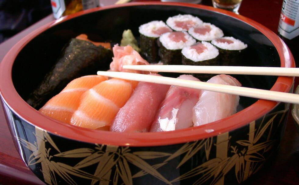 Blåfinnet tunfisk står for mesteparten av tunfisk brukt i sushi. Foto: colourbox.com