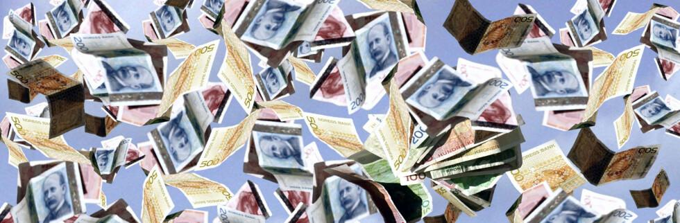 Det vil sannsynligvis aldri ramle store summer ned i hodet på deg. Foto: Colourbox.com