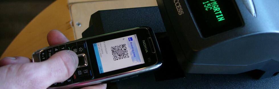 Slik vil det se ut når du får boardingkort på mobilen. Foto: SAS