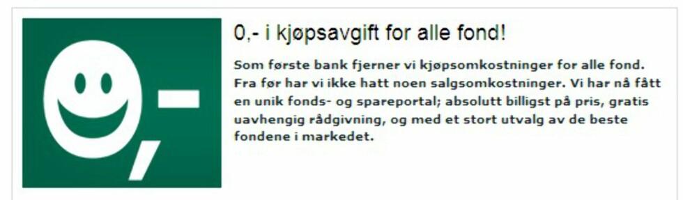 Skandiabanken frister nå med 0,- i kjøpsavgift. (Faksimile: Skandiabanken.no)