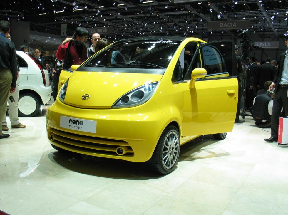 Nye Nano Europa ble vist på bilmessen i Genève i mars i år. Foto: Knut Moberg
