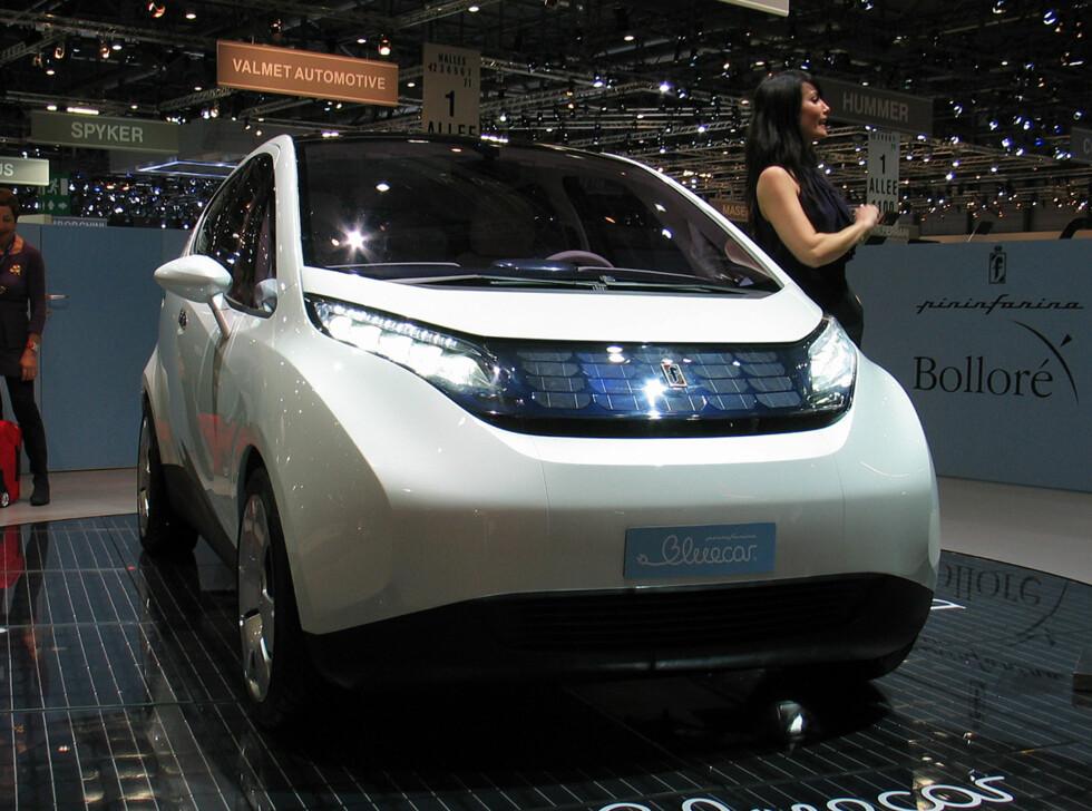 Elektrisk bil som nærmer seg produksjon: Bolloré BlueCar Foto: Knut Moberg