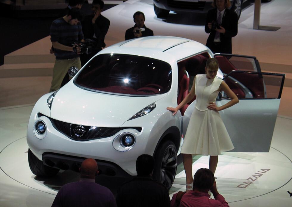 """Nissan Qazana - konsept som skal foranledige en kommende """"hyggelig"""" SUV. Foto: Knut Moberg"""