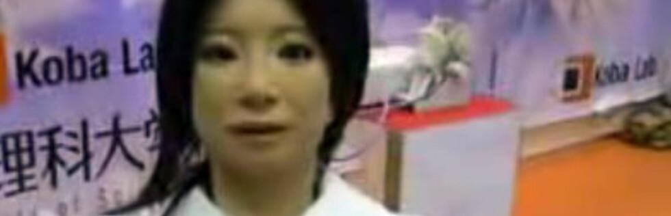 Saya - roboten som kan overta i klasserommet, snakker flere språk. Bilde fra Youtube. Foto: Youtube