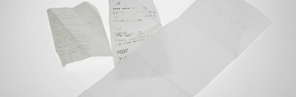 Kvitteringene overlever ikke lenger noen dager i lomma eller veska. Foto: Per Ervland