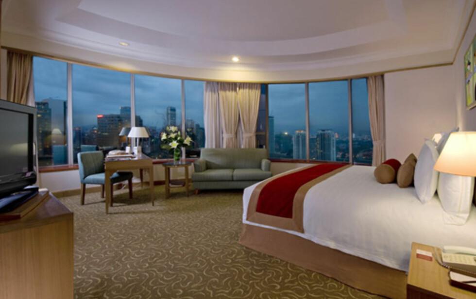 Et grand deluxe-rom med panoramautsikt over skyskraperbyen. Foto: Prince Hotel & Residence Kuala