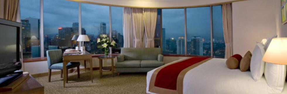 Panoramautsikt over Kuala Lumpur er inkludert i hotellprisen - hvis du får hotellrom høyt oppe.  Foto: Prince Hotel & Residence Kuala