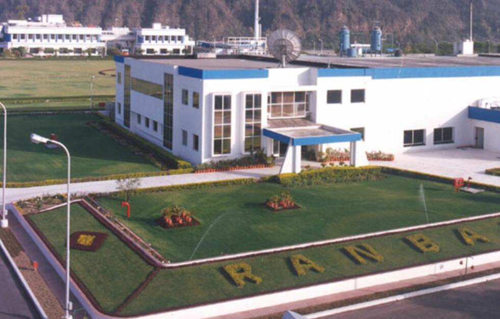 Det er ved denne fabrikken i Paonta Sahib i India FDA-inspektører skal ha avdekket testjuks, skriver Yahoo.  Foto: Ranbaxy.com