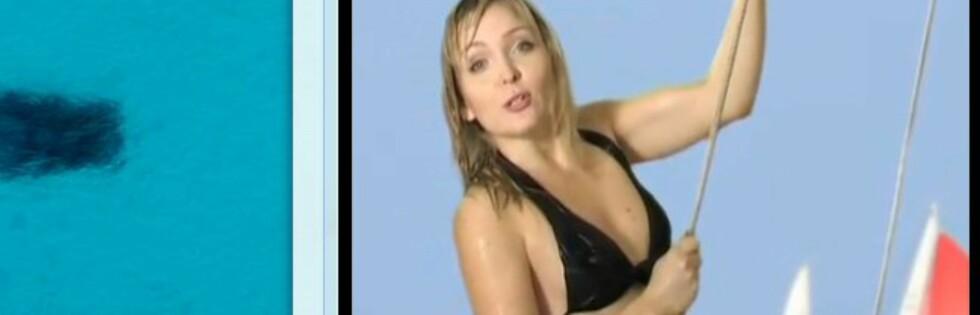 29 år gamle Julia fra Russland er en het kandidat til drømmejobben som øyoppasser. Foto: Youtube