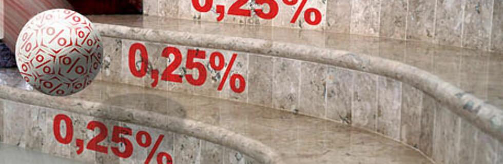 Bankene har foretatt hyppige rentejusteringer i det siste. Foto: Per Ervland