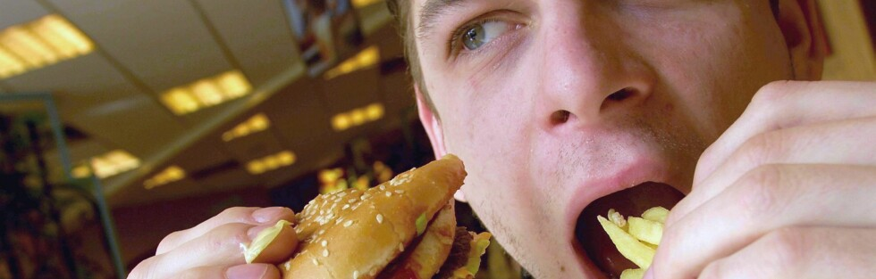 Burgermeny i bakken koster fra 95 til 115 kroner. Foto: Colourbox