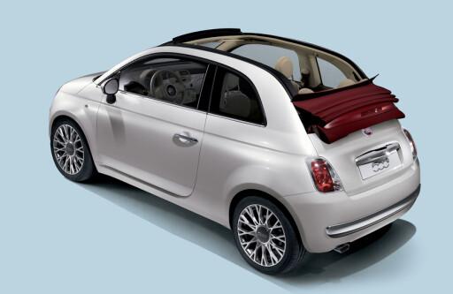 image: Fiat 500 leker kabriolet