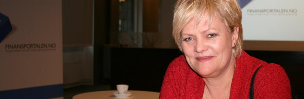 Kristin Halvorsen vil de bevisstløse bankkundene til livs. Foto: Kristina Picard