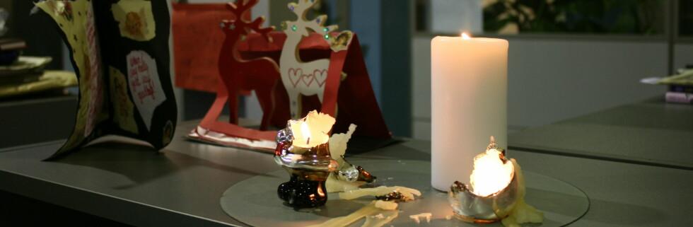 Etter snaue ti minutter var julenissen hodeløs og snømannen hadde eksplodert.  Foto: Elisabeth Dalseg