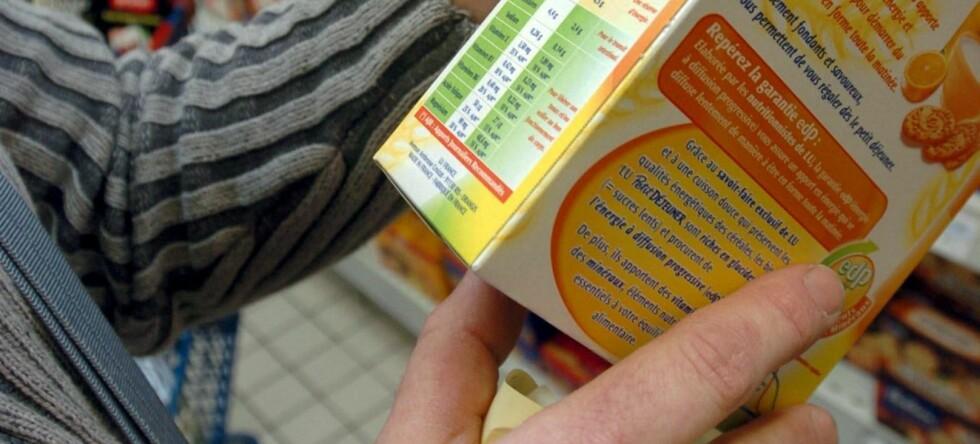 Varedeklarasjonen får stå i fred for de fleste av oss. Foto: colourbox.com