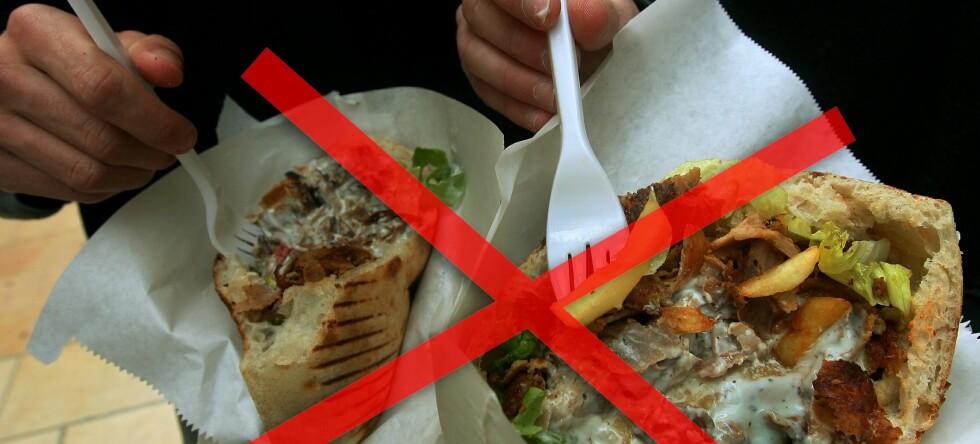"""Nå kan du nyte kebab og annen """"nattmat"""" igjen mellom klokka 01 og 06 igjen. Foto: Colourbox.com: Montasje"""
