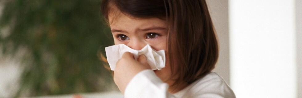 Lei av barn som snufser hele vinteren? Kanskje kan du gjøre noe med det. Foto: colourbox.com