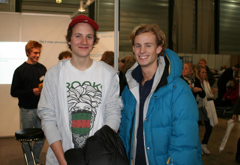 Felix og Sebastian har tenkt litt forskjellig til neste år. Foto: Synne Hellum Marschhäuser