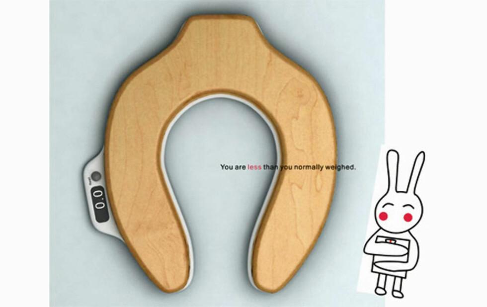 Hvor mye veier du etter at du har vært på do? Foto: yankodesign.com