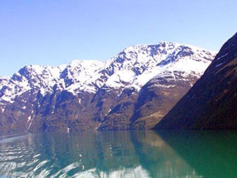 Geirangerfjorden er kanskje aller vakrest om våren. Foto: Inga Holst