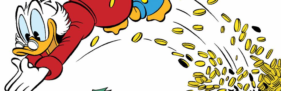 Onkel Skrue er verdens nest rikeste fiktive figur. Foto: Disney