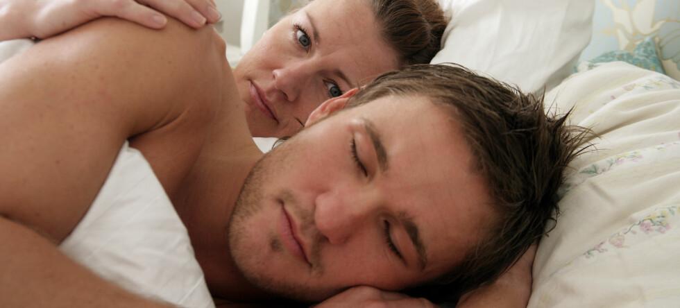 Selv om snorkingen brenner kalorier, kan den få mange andre negative følger.  Foto: colourbox.com