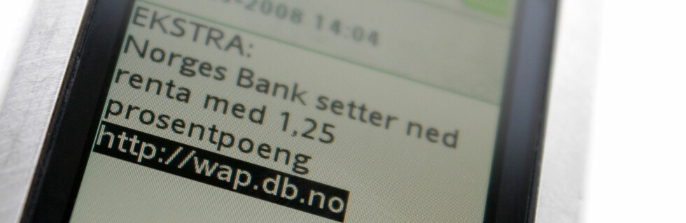 Denne meldingen fra Db.no ble sendt rundt like etter klokken 14.00. Og nei, renten ble ikke satt ned 1,25 prosentpoeng, den ble senket med 1,75 prosentpoeng.