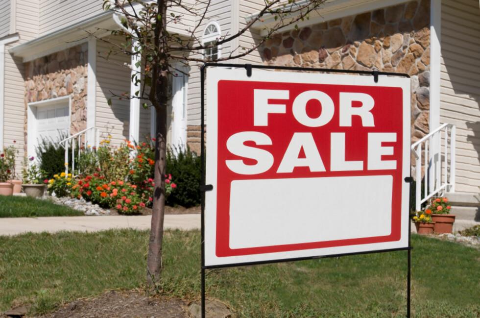 I USA har boligprisene falt med over 20 prosent (justert for inflasjon) det siste året.  Foto: iStockphoto.com