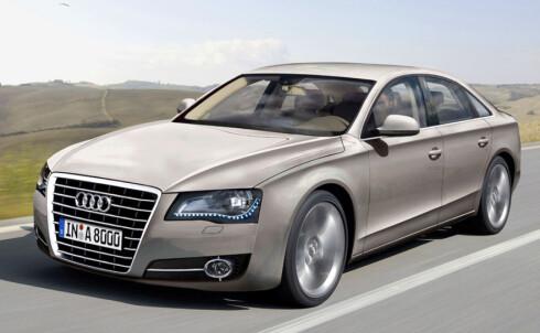 Audi A8 er ventet i 2010. Bildet er manipulert. Foto: Automedia