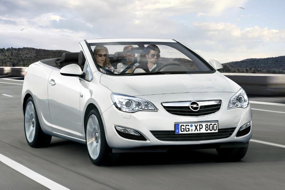 Opel Astra Twintop er ventet i 2010. Bildet er manipulert. Foto: Automedia