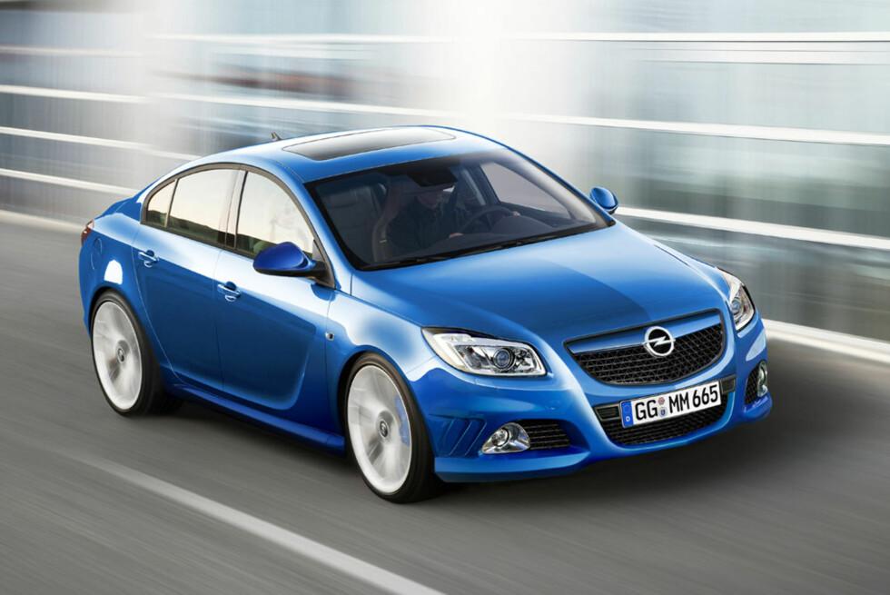Opel Insignia OPC er ikke langt unna. Kommer i 2009. Bildet er manipulert. Foto: Automedia