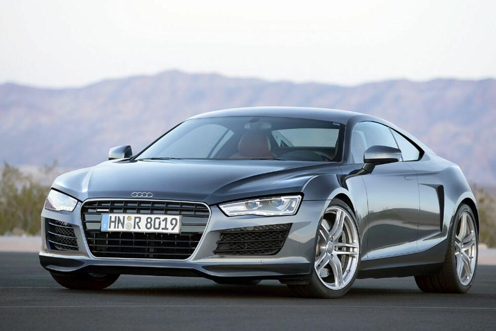 Audi R6. Bildet er manipulert. Foto: Automedia