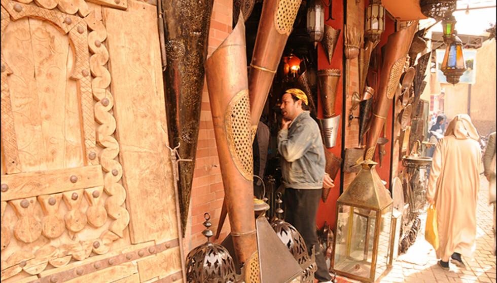 Du finner alt i souquene i Marrakesh - lamper er en favoritt for mange.
