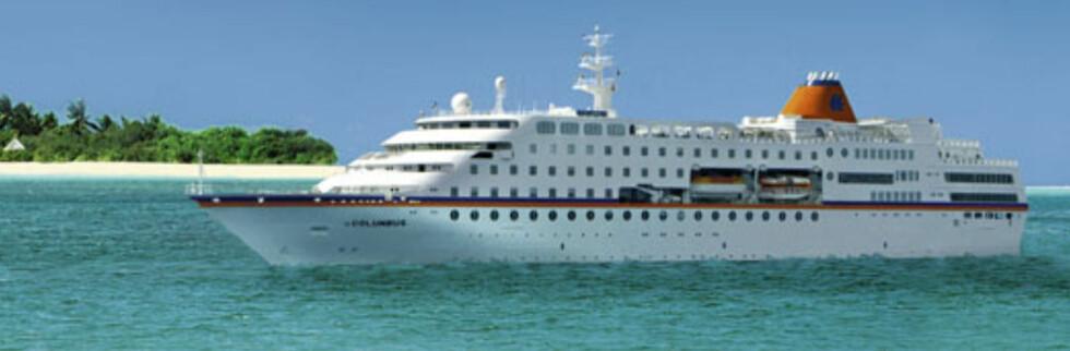 MS Columbus tar ingen sjanser når skipet skal seile gjennom farvannet der piratene herjer. Foto: Hapag-Lloyd Kreuzfahrten