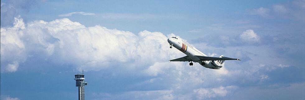 Finanskrisen har bremset opp flytrafikken. Foto: Oslo Lufthavn