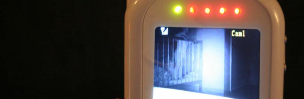 Når babycallen registrerer lyd, slår kameraet seg på. Foto: Øyvind Paulsen