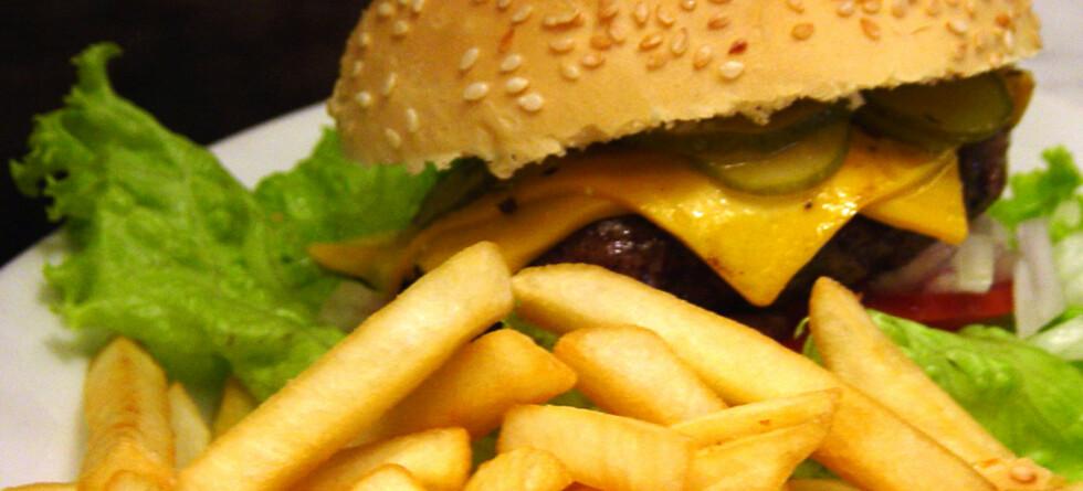 De fleste spiser fastfood fordi det er kjapt - men noen velger det fordi de mener det er næringsrikt ...                               Foto: Ingrid Müller