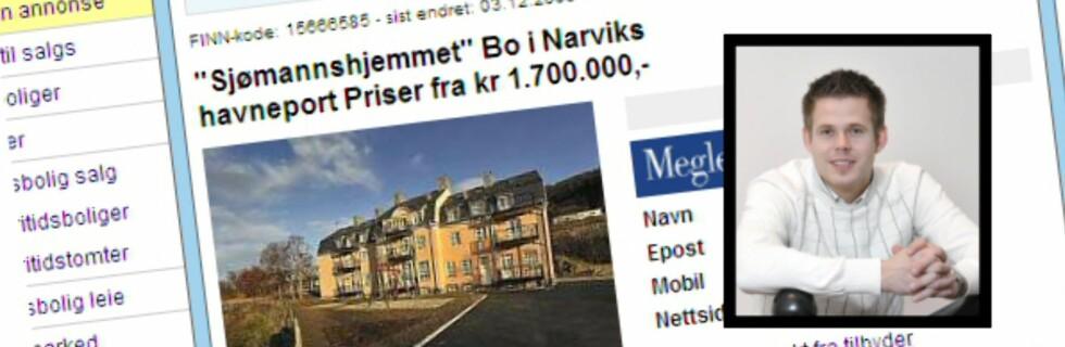 Gode priser til tross, megler Jostein Andreassen hadde ikke forventet den store pågangen da Sjømannshjemmet hadde visning. Foto: Finn.no/Jimmi Bakke
