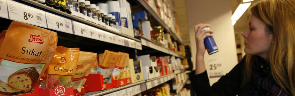 Vi bruker mindre penger i butikkene, men ikke i kolonialen. Foto: Per Ervland