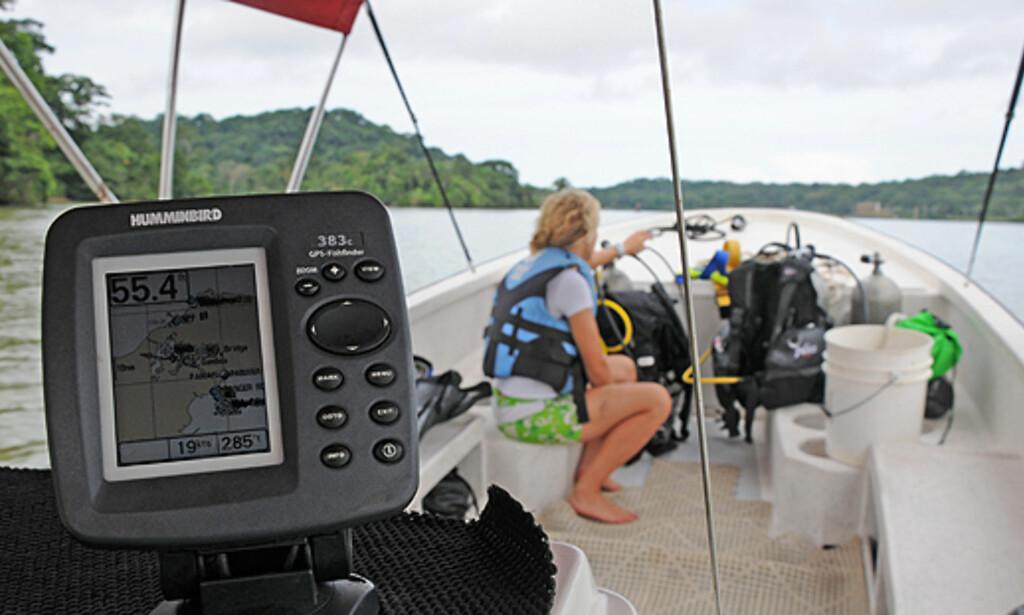Det er ikke alle land du kan orientere deg på GPS og se to Stillehavet og Karibia på et skjermbilde. Kanalen er 82 kilometer fra hav til hav.   Foto: Hans Kristian Krogh-Hanssen