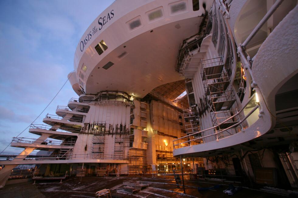 Aqua Theatre, Oasis of the Seas kjempestore uteteater, ligger akterut i skipet. Foto: Simon Brooke-Webb/sbw-photo