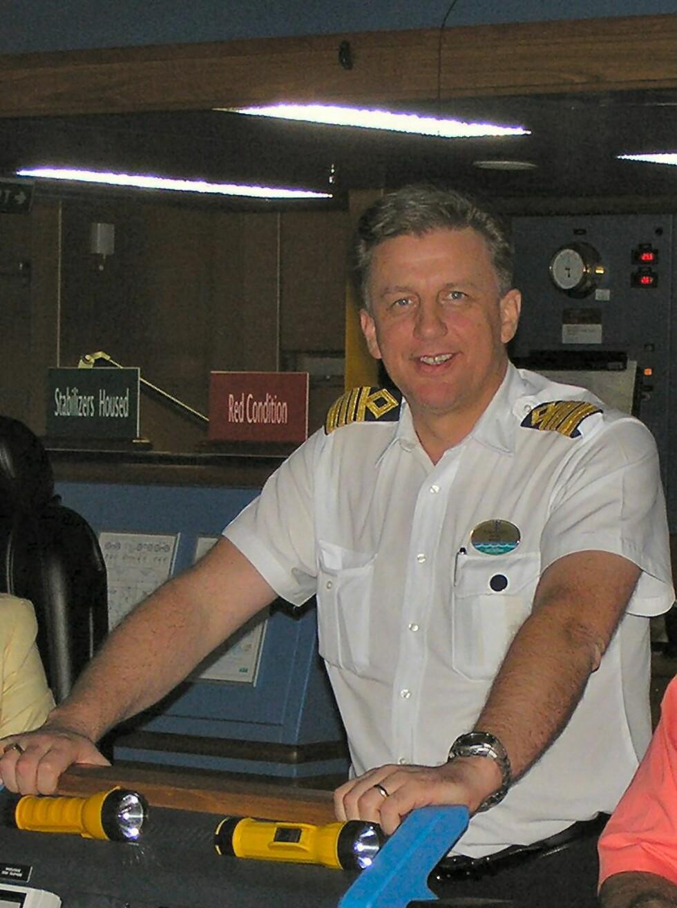 Tor I. Olsen er den andre kapteinen som skal styre verdens største cruiseskip. Foto: RCCL
