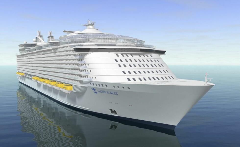 Slik vil Oasis of the Seas se ut når det er ferdig. Foto: RCCL