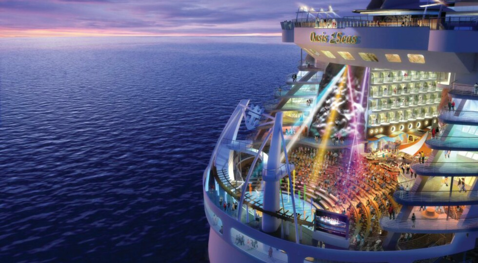 Bak i skipet vil Aqua Theatre ligge. Foto: RCCL