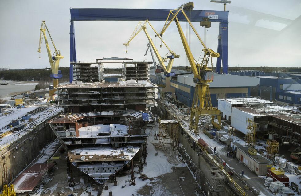 Slik så Oasis of the Seas ut i mars i år. Foto: RCCL