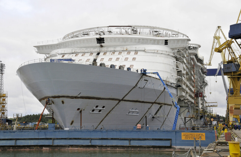 Baugen på skipet er så godt som ferdig. Foto: RCCL