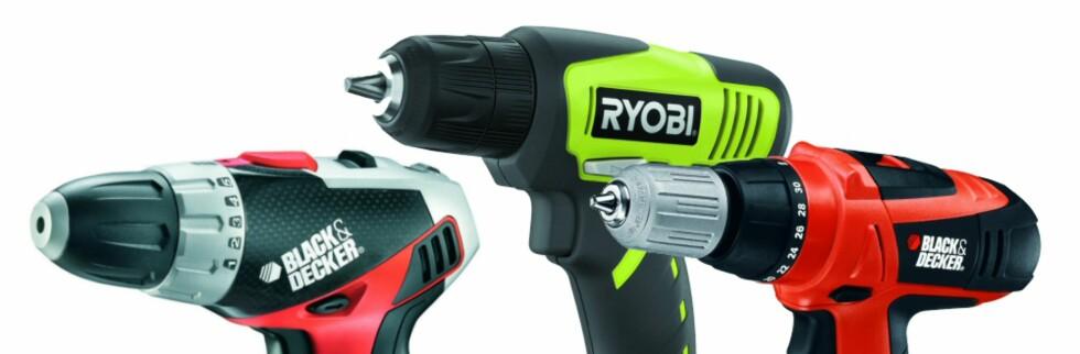 En av disse bør du styre unna om du er i markedet for en ny boremaskin/skrutrekker.  Foto: Smartson