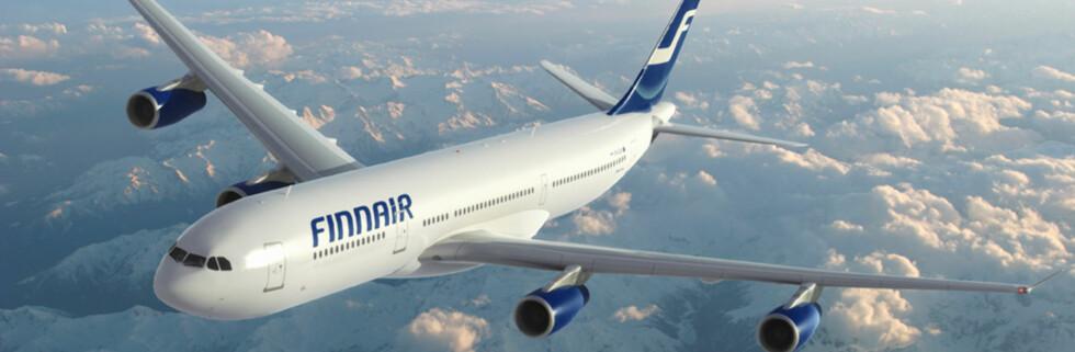 En liten solskinnshistorie utspant seg på en av Finnairs langflyvninger. Foto: Finnair