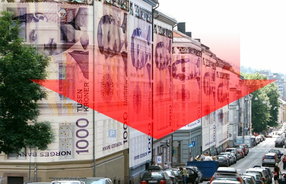 I oktober falt prisene med 4,2 prosent i landsgjennomsnitt. Foto: Per Ervland