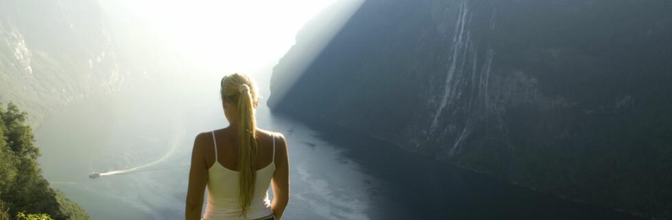 Norge trekker turister på grunn av den flotte naturen. Her fra Geirangerfjorden. Foto: C.H./Innovasjon Norge